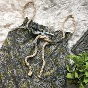 Urban Outfitters Kimchi Blue Floral Rope Tie Top